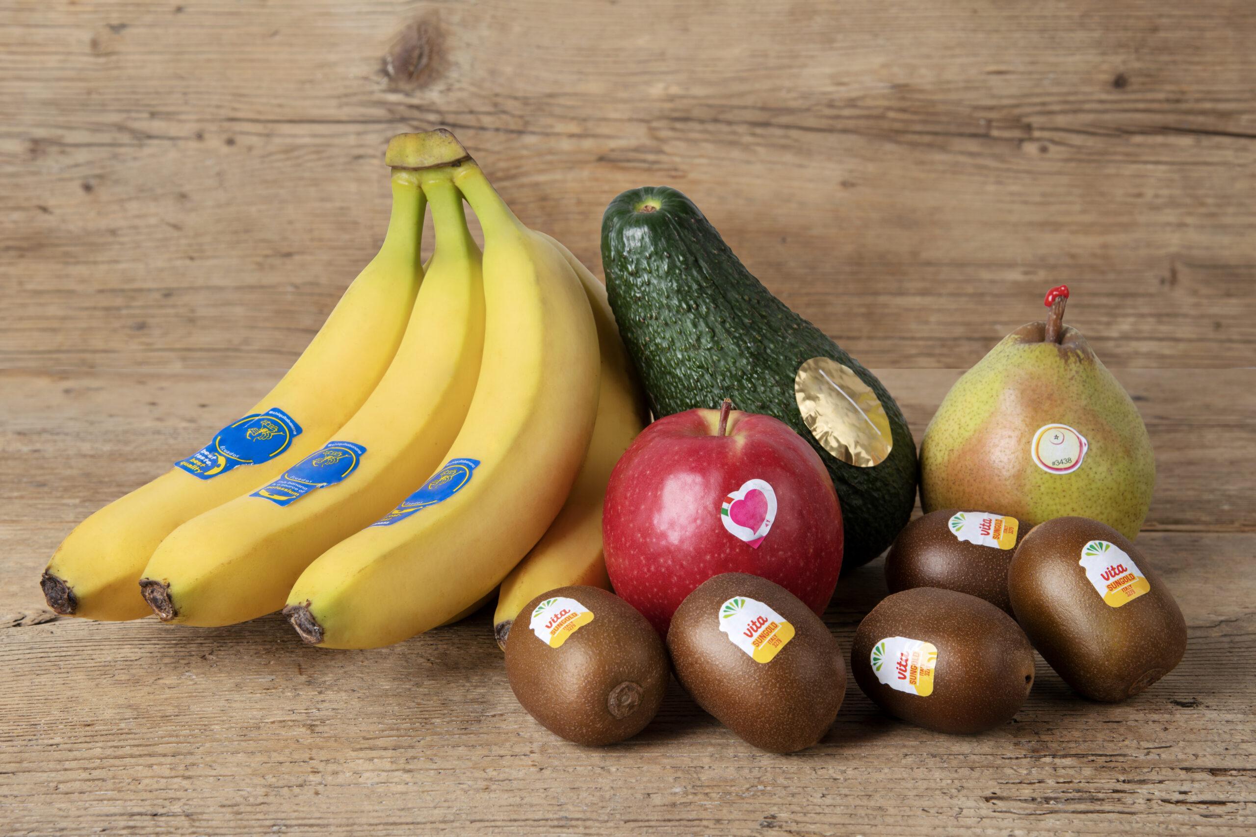 etichette frutta